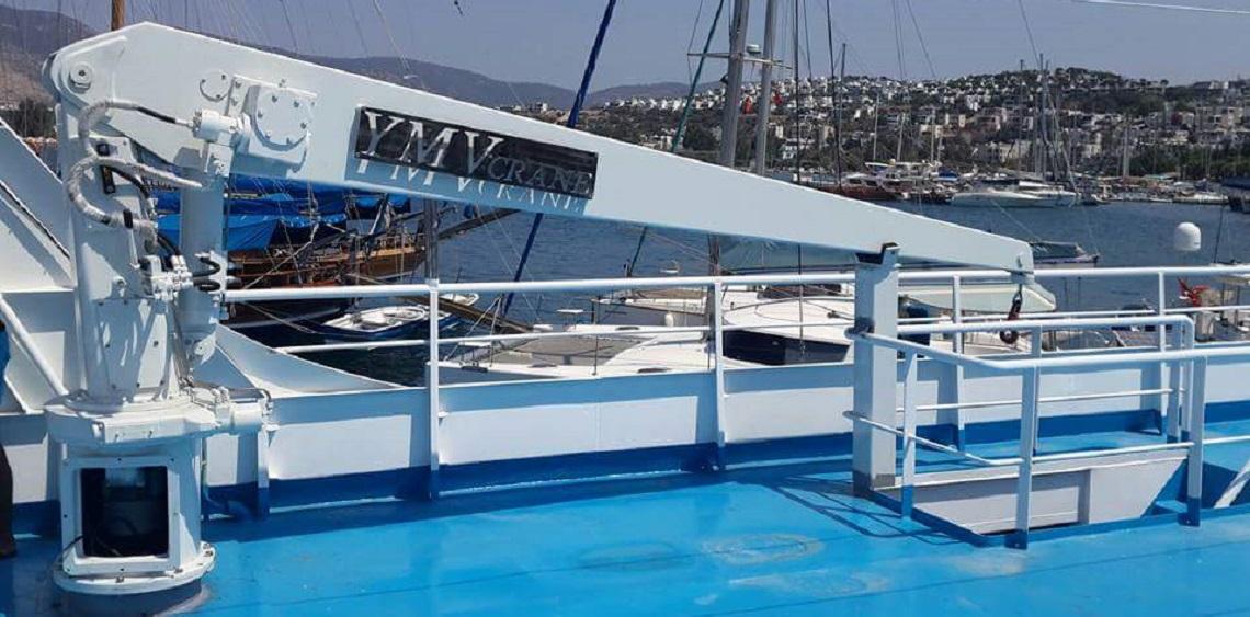 Yacht Hydraulic Crane : Ymv yacht crane